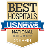 Ophthalmology Specialty badge - Best Hospitals - US New & World Report Ophthalmology 2017-2018