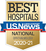 Ophthalmology Specialty badge - Best Hospitals - US New & World Report Ophthalmology 2019-2020