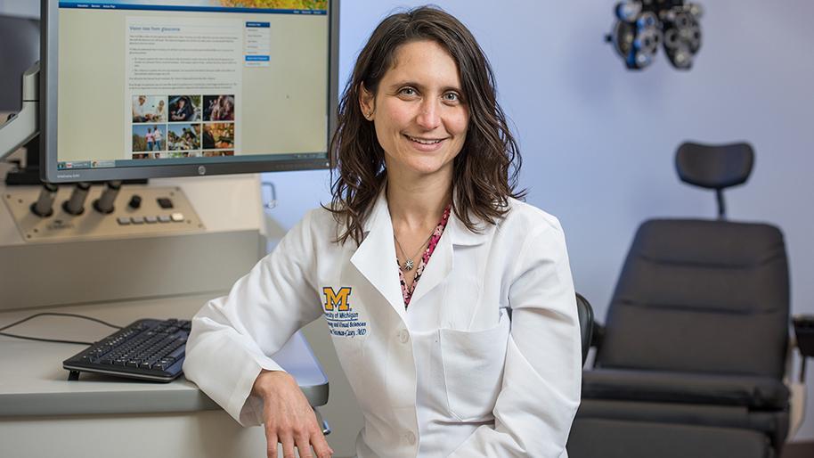 Dr. Paula Anne Newman-Casey in an exam room