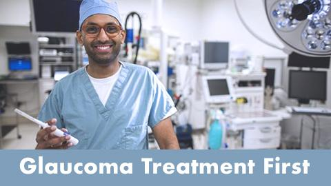 Dr. Manjool Shah in the operating room - New glaucoma treatment